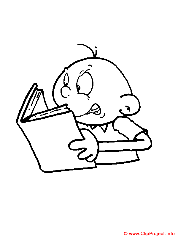 Read A Book Coloring Page - Coloring Home