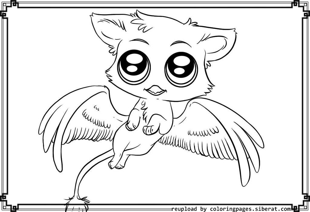 cute cartoon animals coloring pages az coloring pages