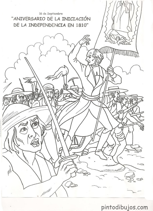 Mexican Independence Day Coloring Pages - Coloring Home