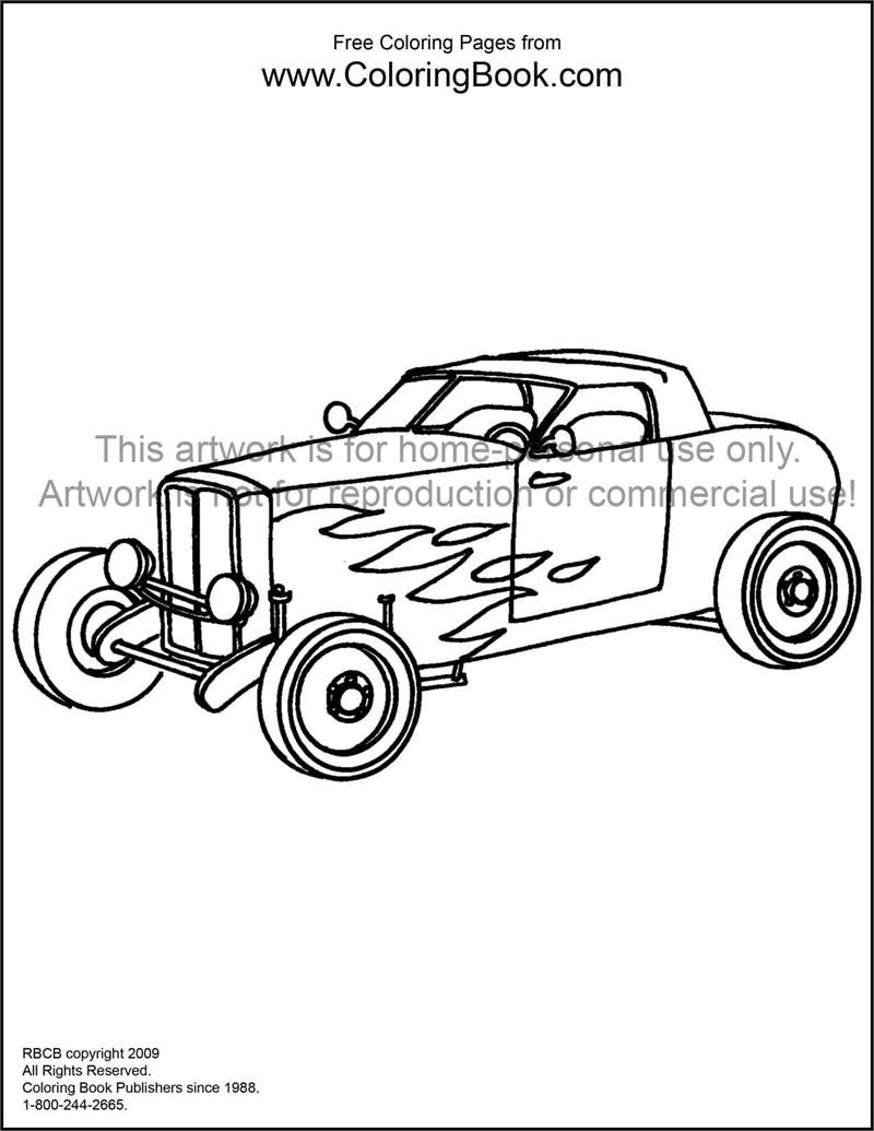 printable hot rod coloring pages - photo#22