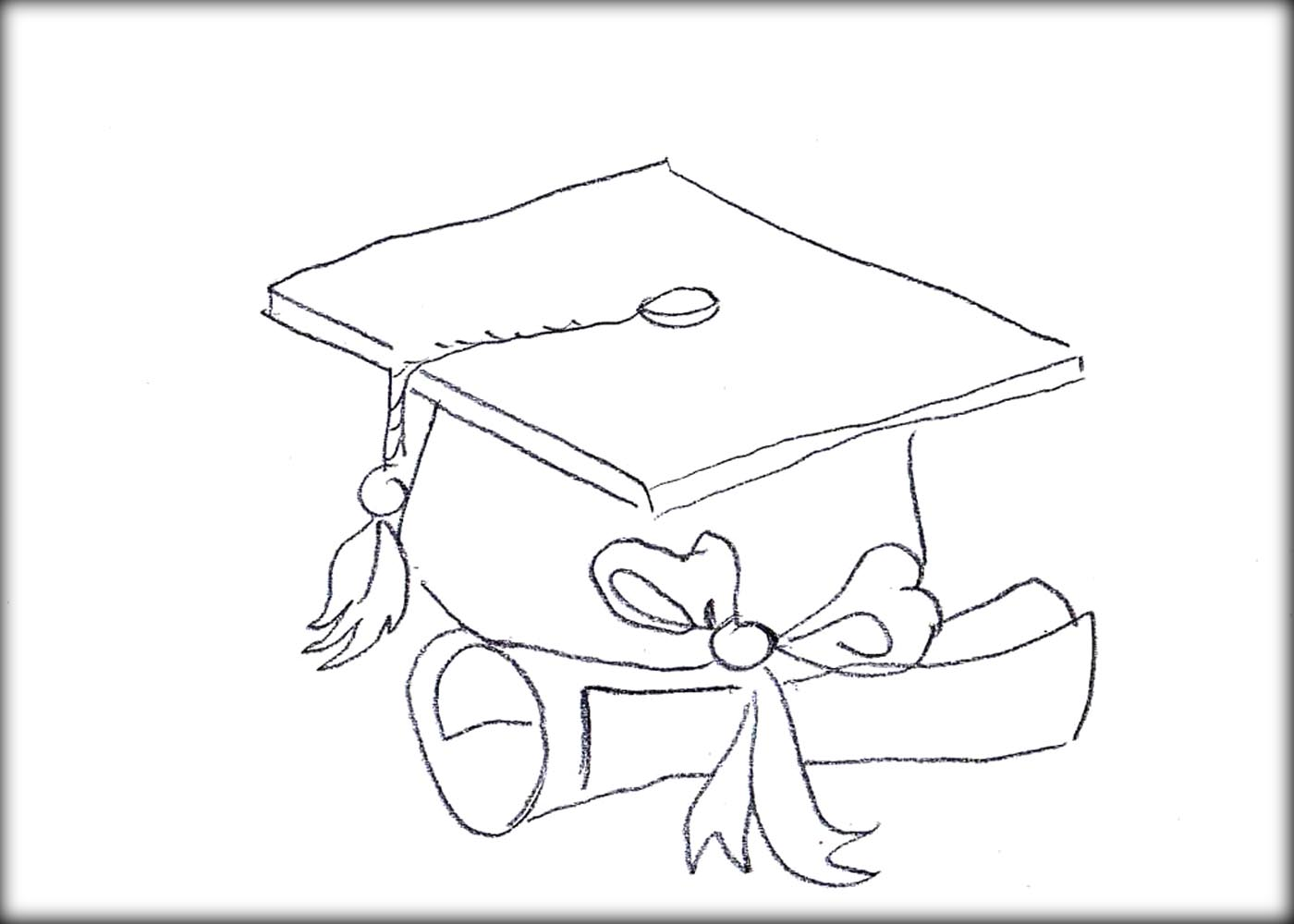 Graduation Cap Coloring Page Coloring Home