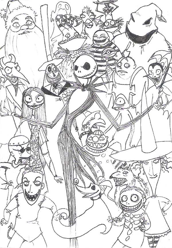 The Nightmare Before Christmas Coloring Pages - AZ Coloring Pages
