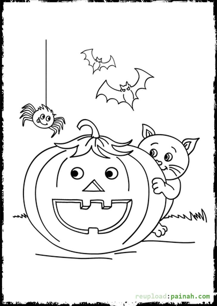 halloween spiders coloring pages - photo#18