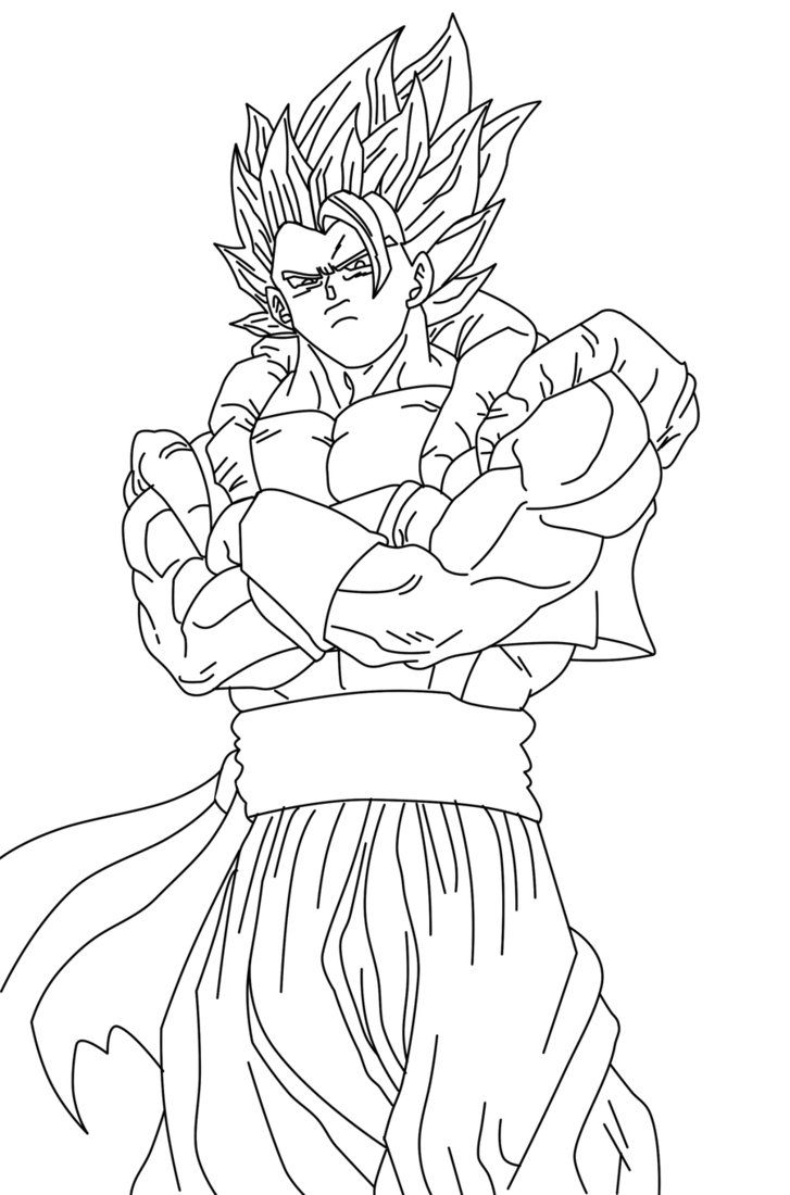 Ssj4 Gogeta Coloring Pages Coloring