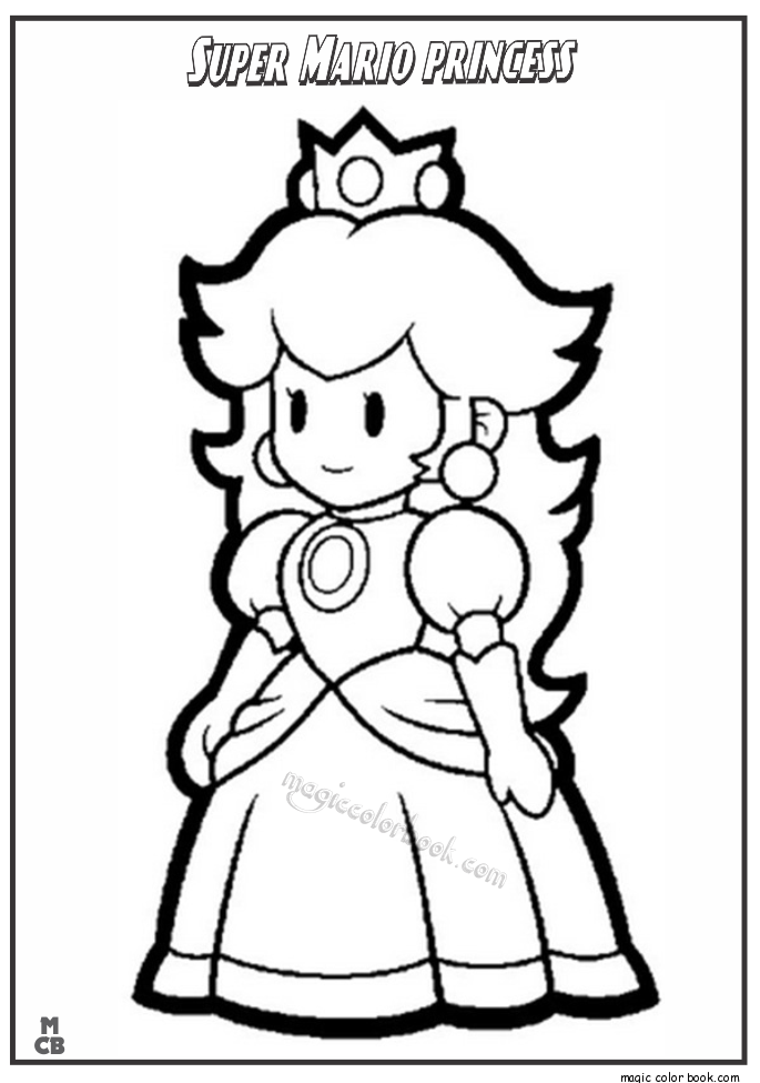 Super Mario Bros Characters Coloring Pages Coloring Home