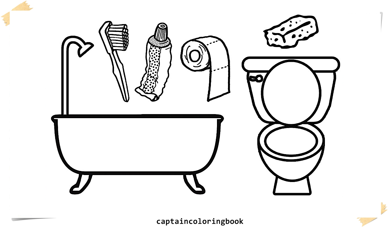 Toilet Coloring Pages Coloring Home