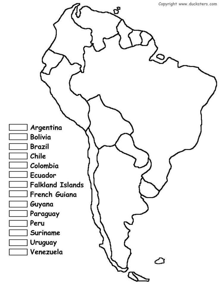 Map Of South America Ks2