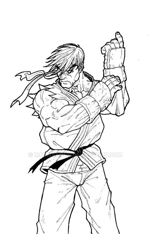 Street Fighter Coloring Pages Coloring Home