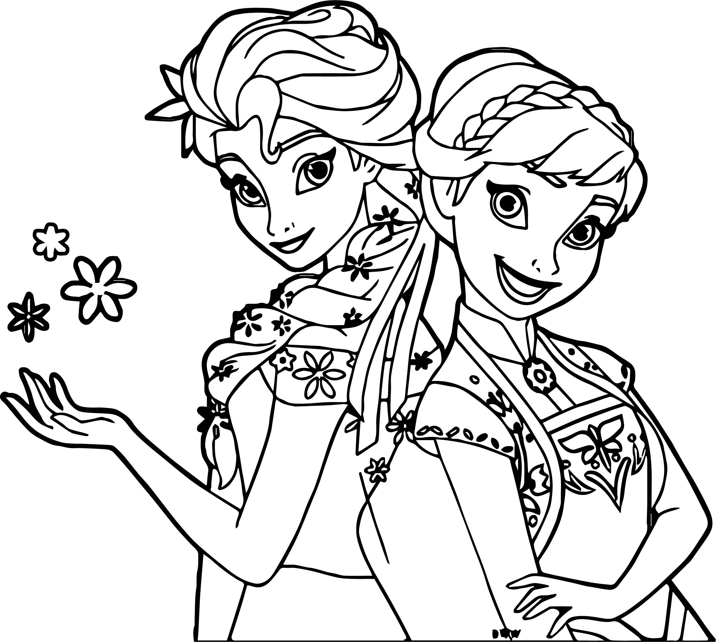 Frozen Fever Coloring Pages Coloring Home