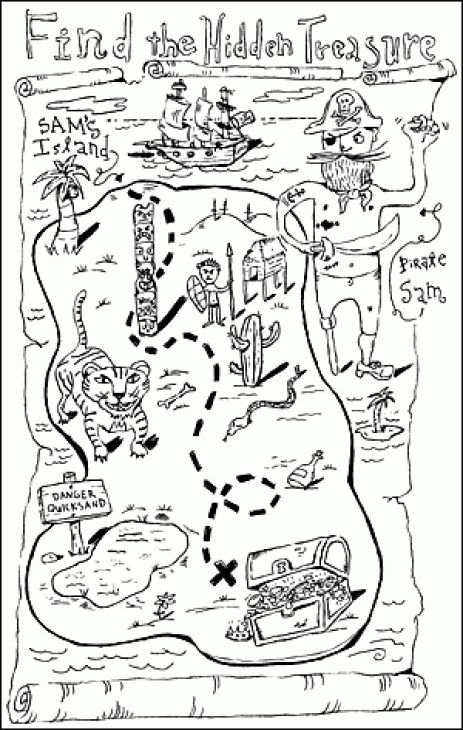 Pirate Treasure Map Coloring Page Coloring Pages Amp Pictures Car -  Coloring Home