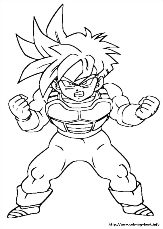 dragon ball z coloring pages on coloring bookinfo - Dbz Coloring Book