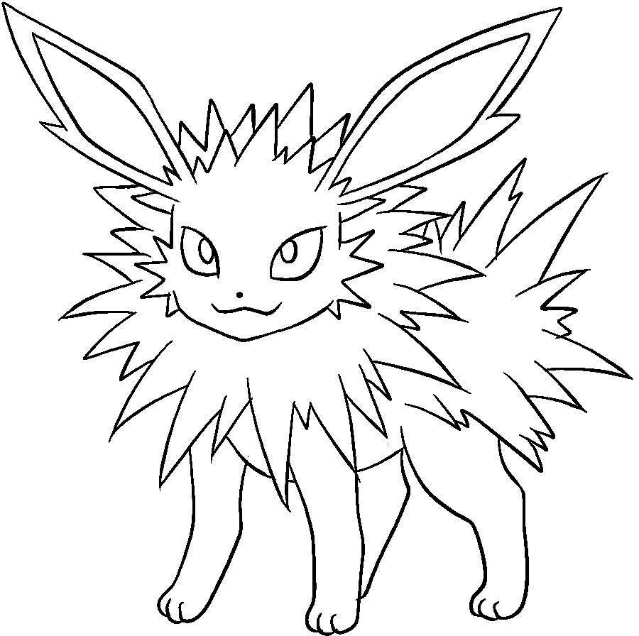 Coloring Pages Eevee Coloringes Evolutions Printable Coloring Home
