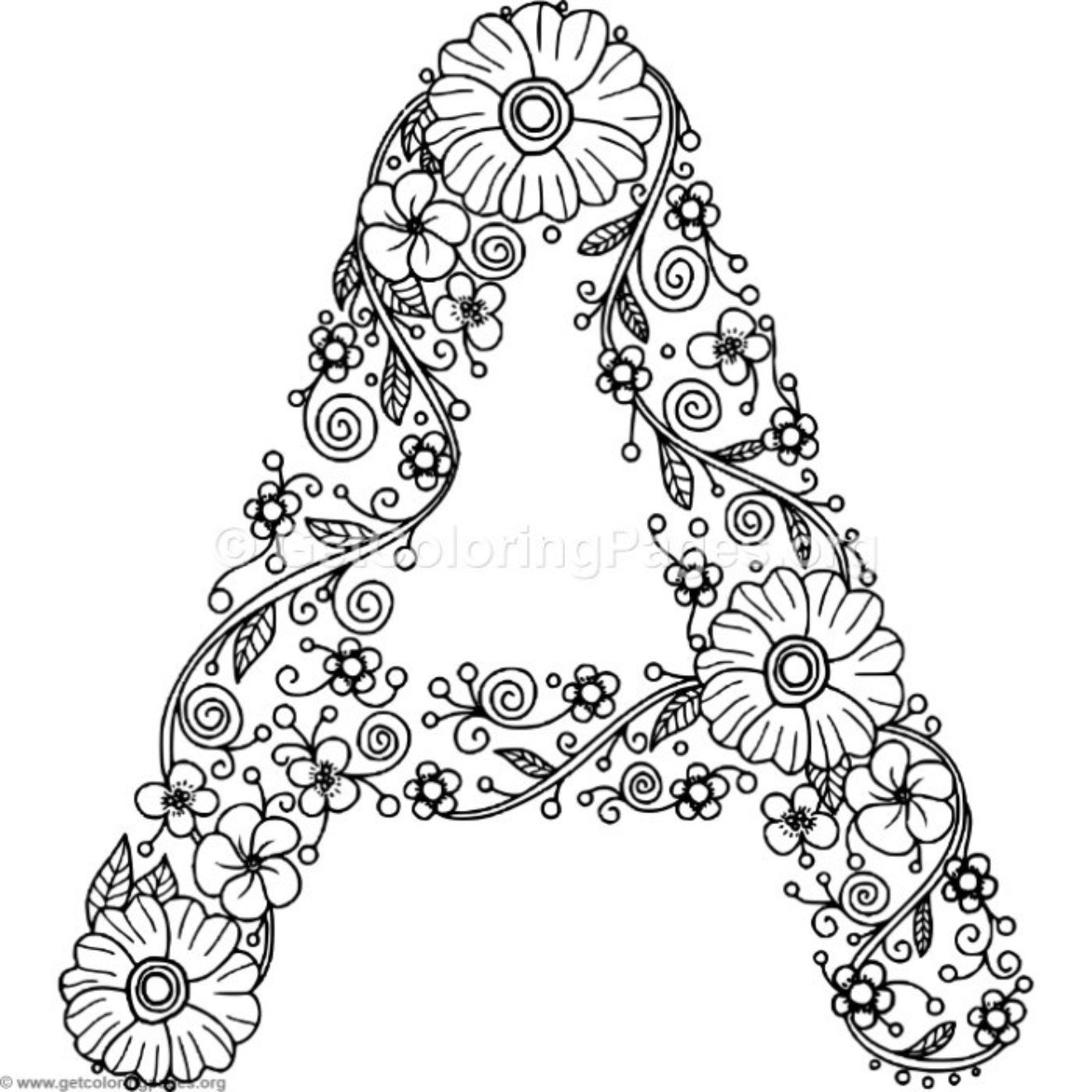 Coloring Pages For The Letter A
