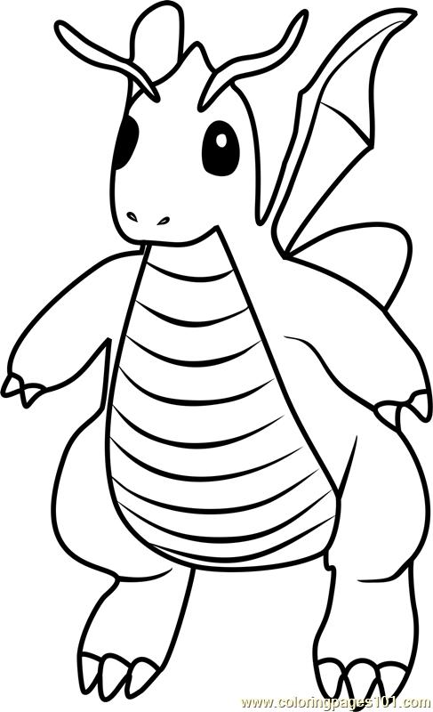 Dragonite Pokemon Go Coloring Page Free Pokemon Go Coloring Home