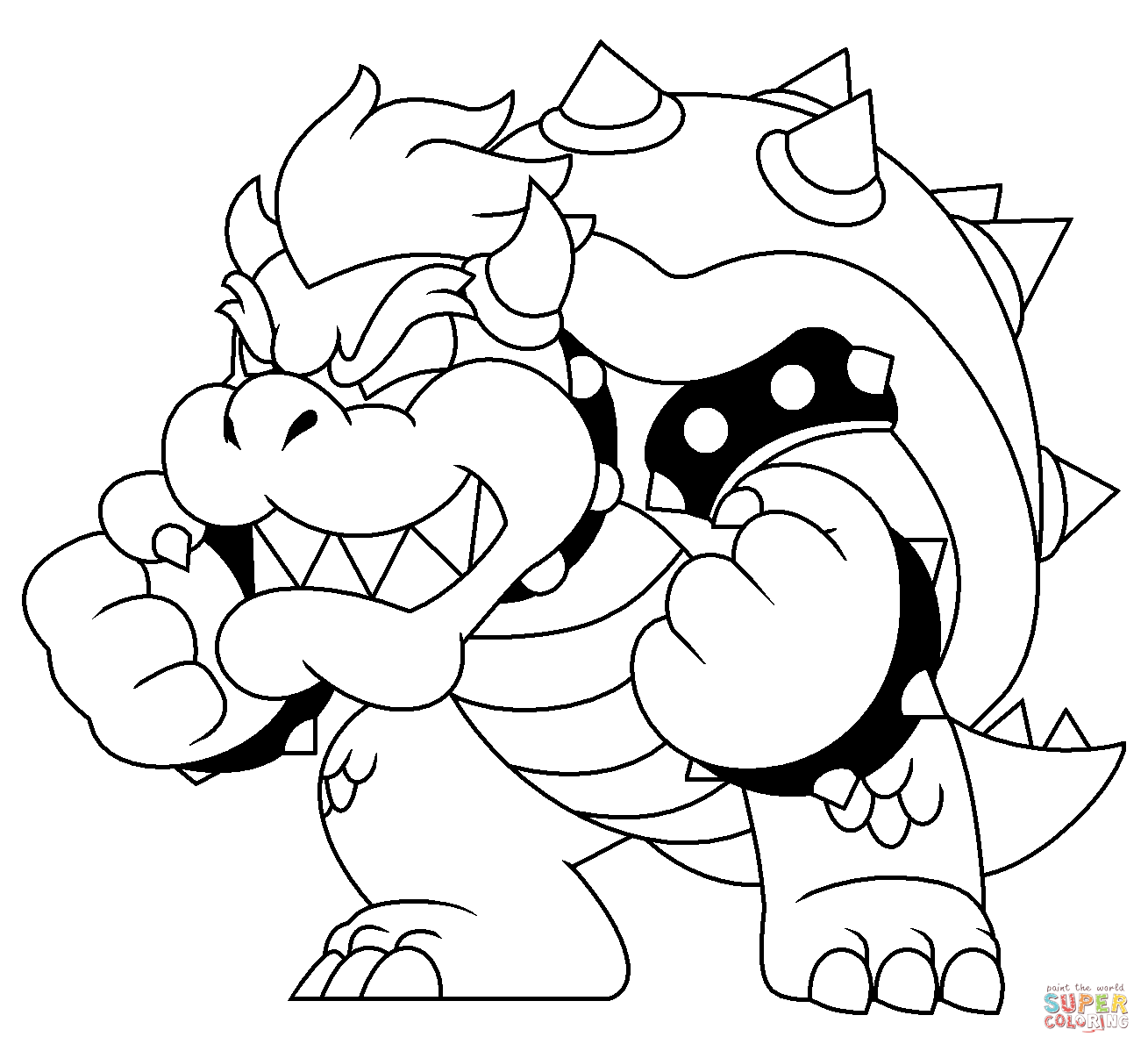 Bowser Coloring Pages Online Coloring Home Bowser Coloring Pages