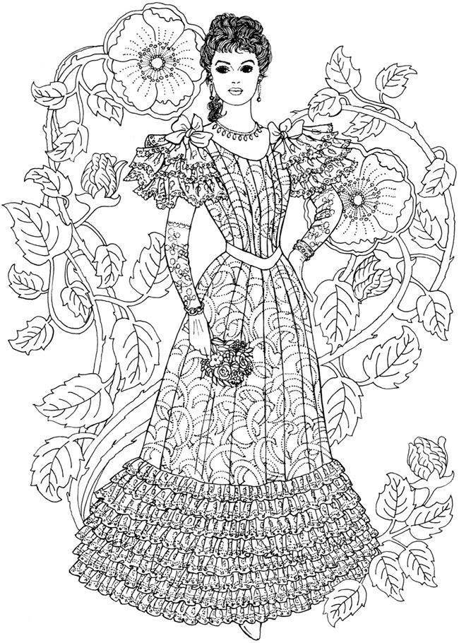 Free Printable Fashion Coloring Pages For Adults ...