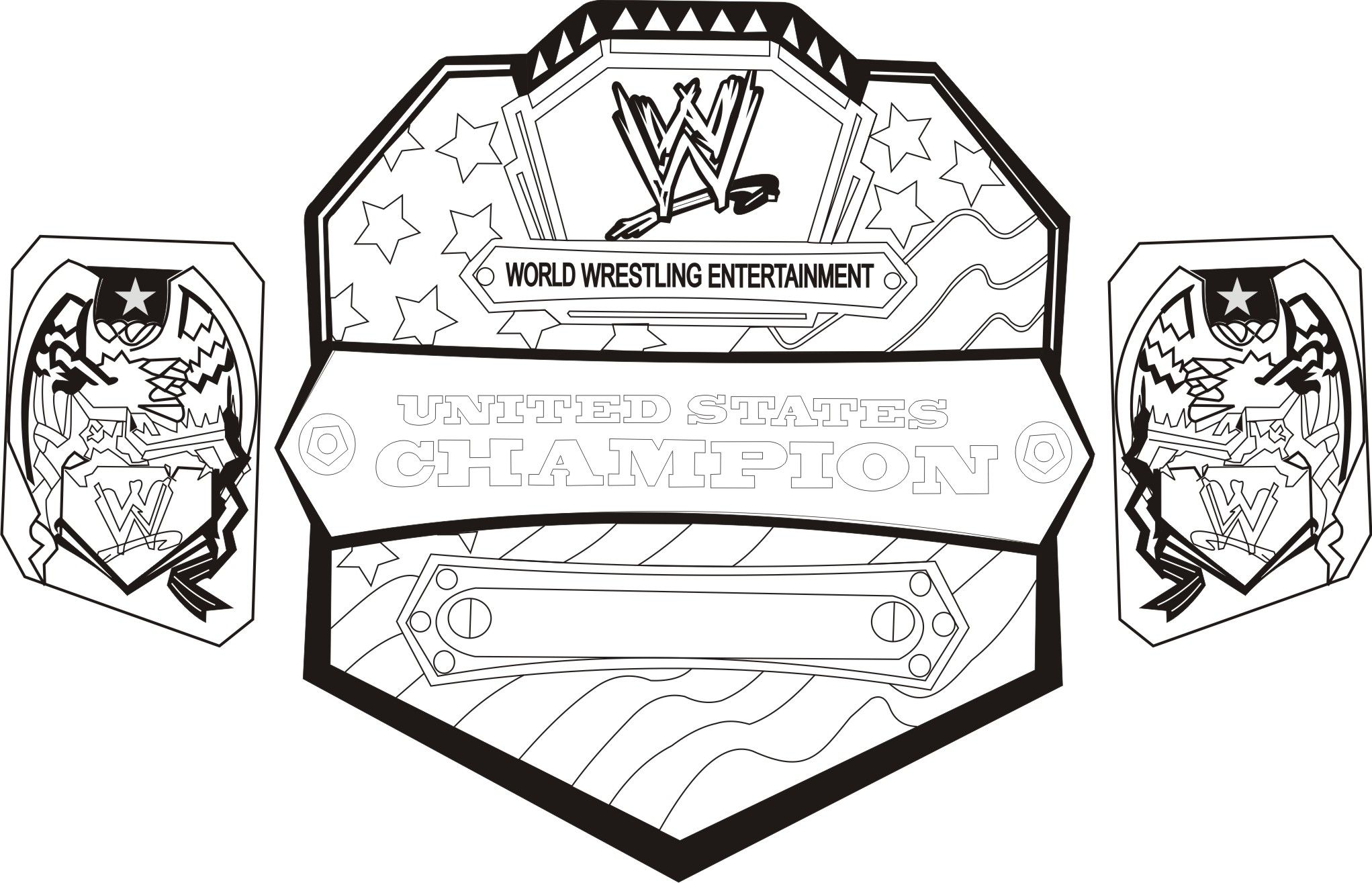 Wwe coloring pages to print - Wwe Coloring Pages And Book Uniquecoloringpages