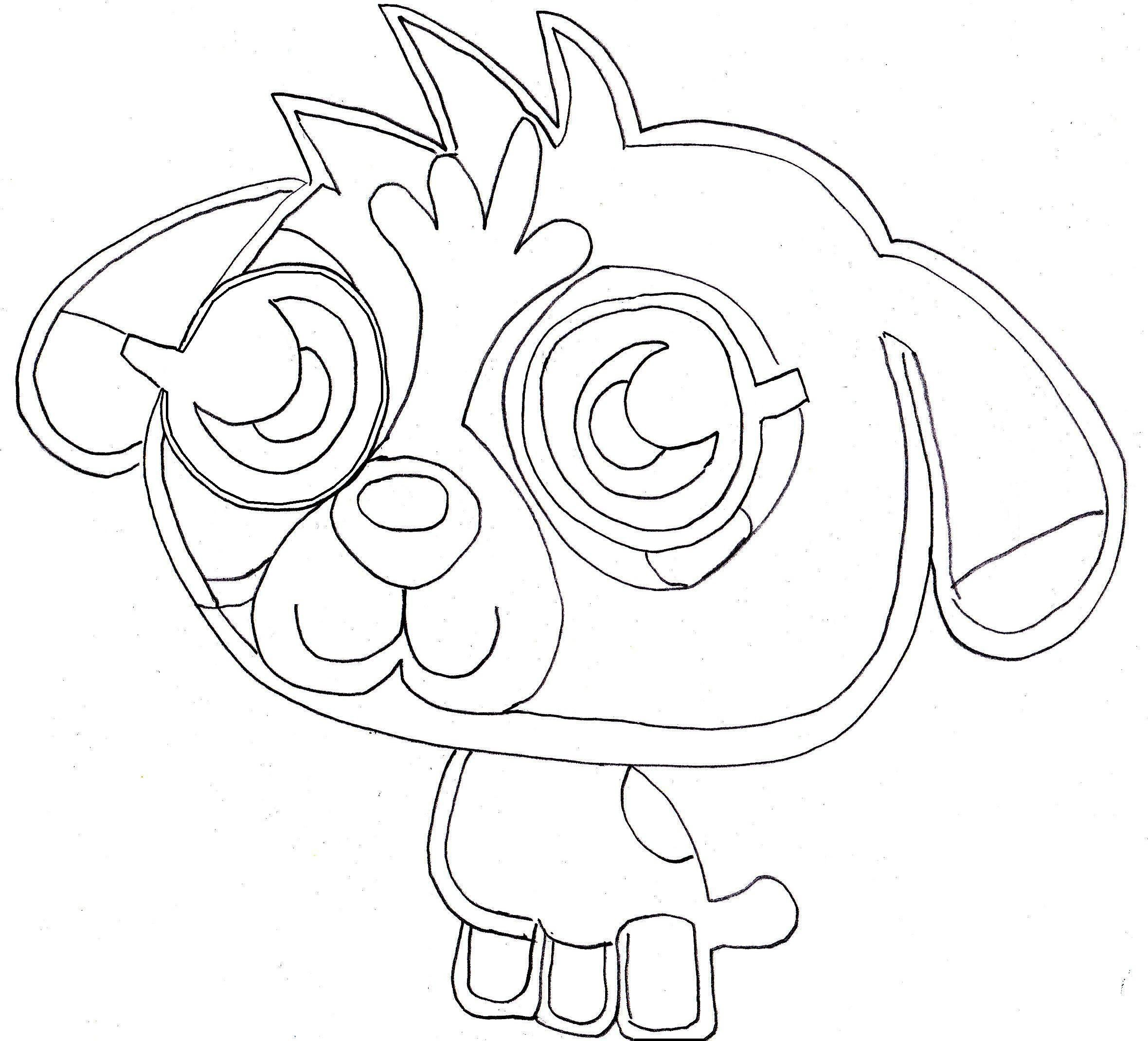 monster coloring pages free - photo#43