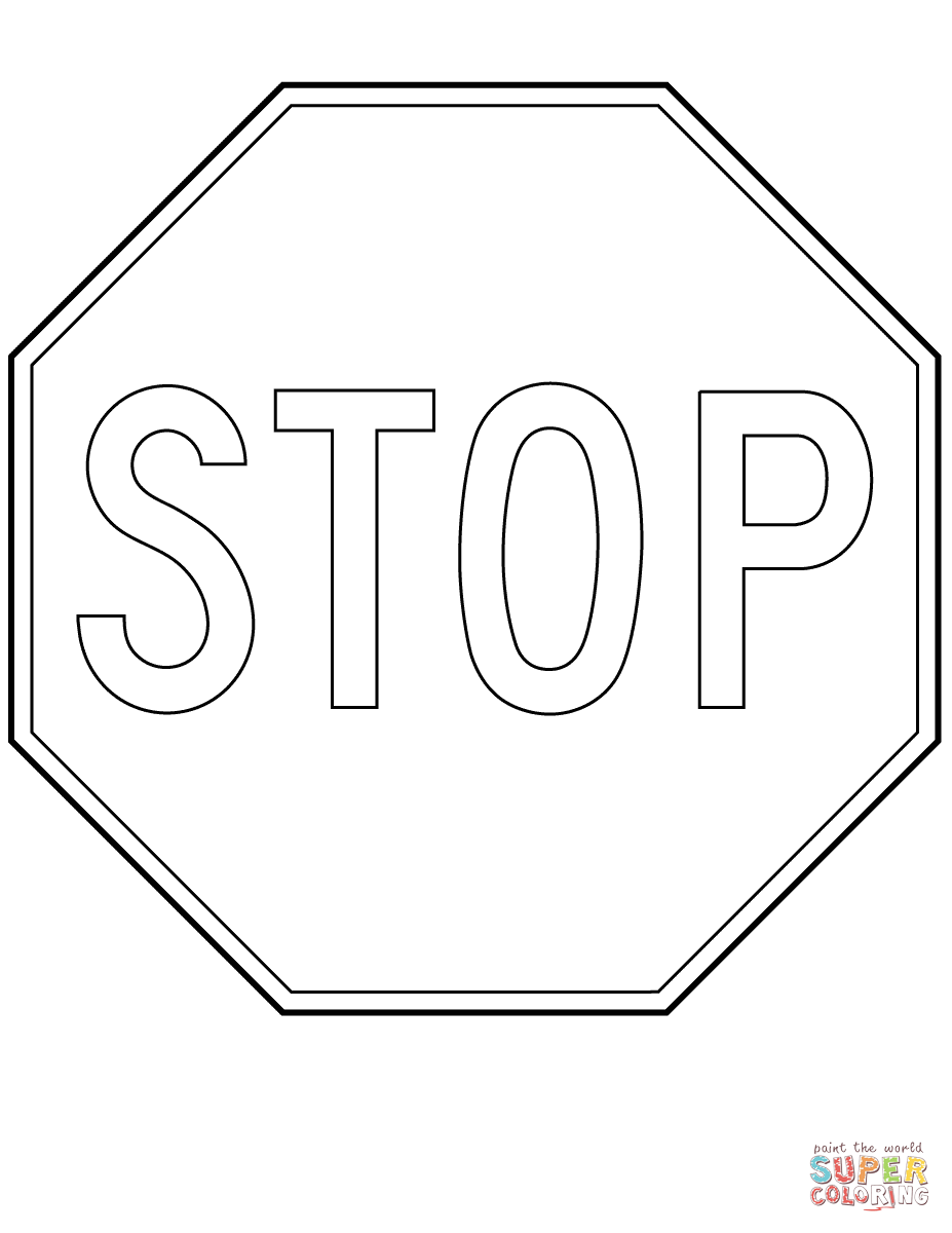 Printable Stop Sign Coloring Page Coloring Home Stoplight Coloring Page