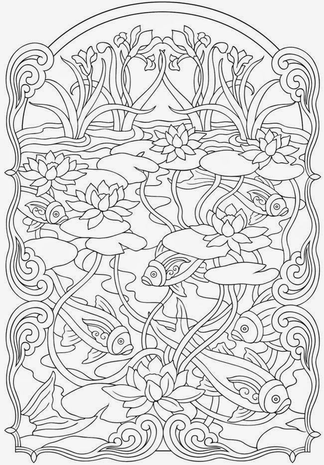 Koi Fish Coloring - Fish Coloring Pages