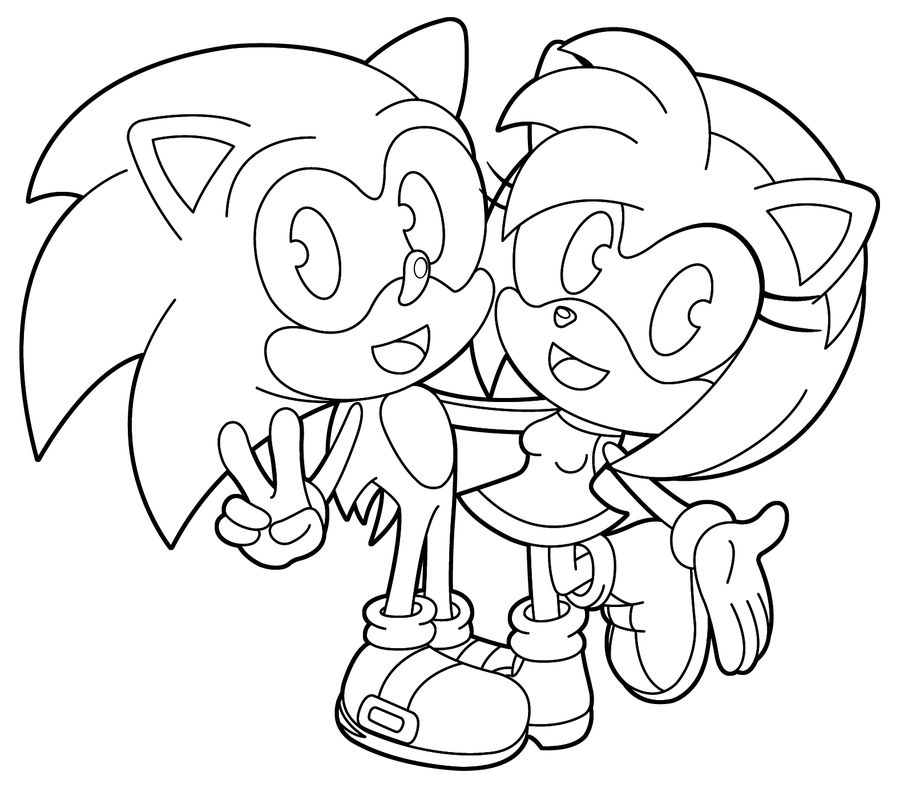 Sonic Boom Coloring Pages