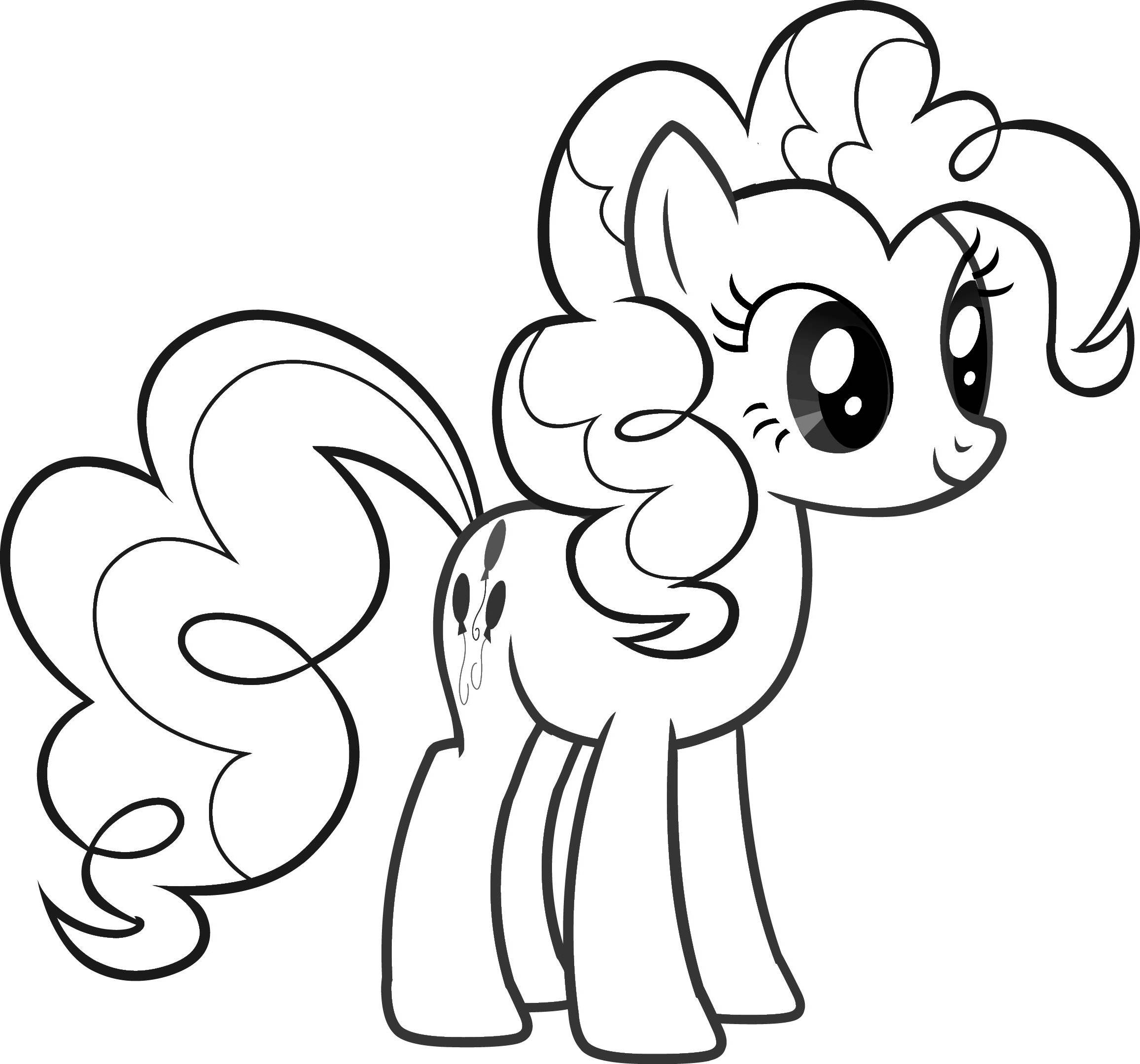 Pinkie Pie Cute Coloring Pages Coloring Pages For Kids #bjL ...