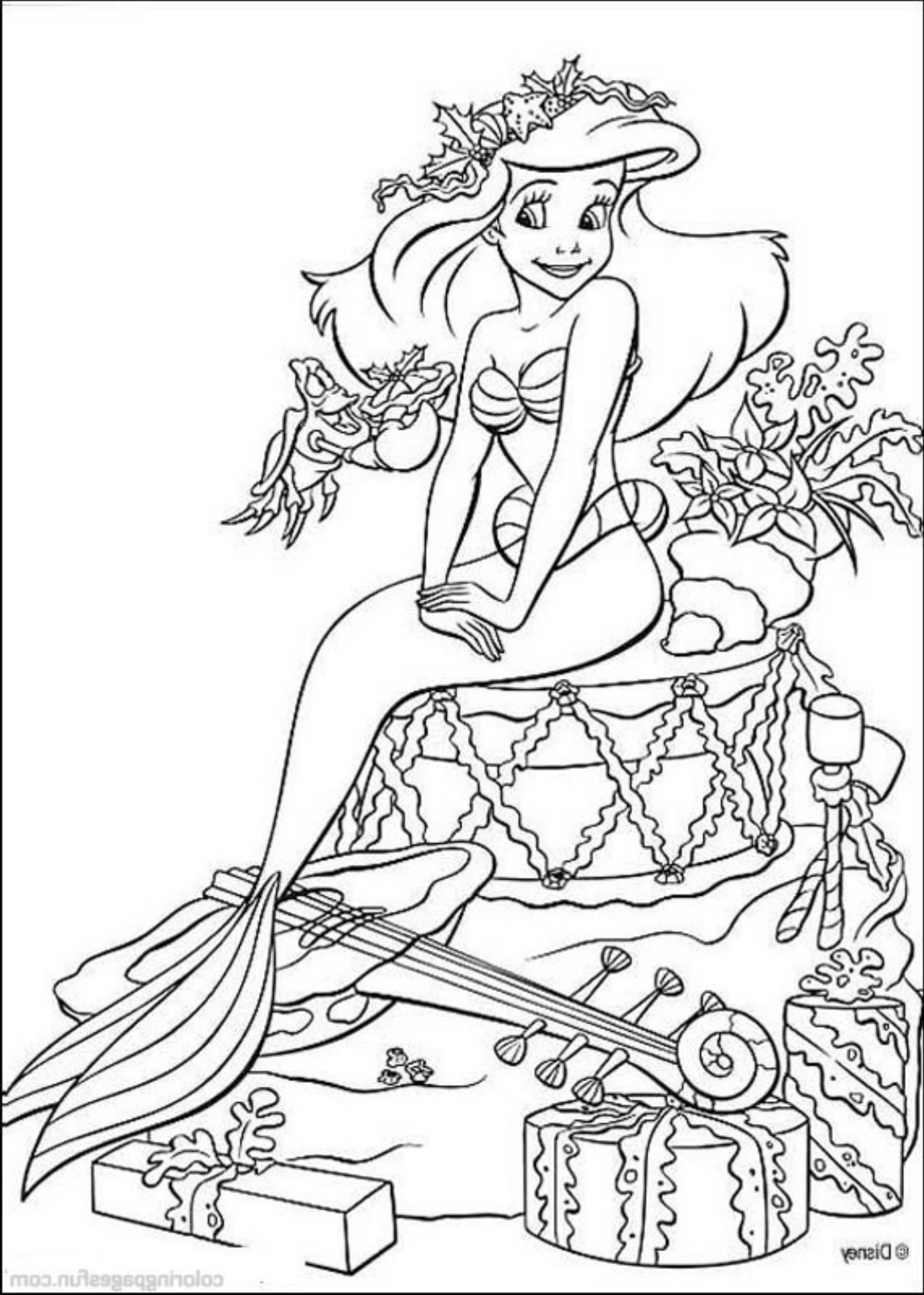 Coloring Pages Of The Little Mermaid And Friends Printable Kids