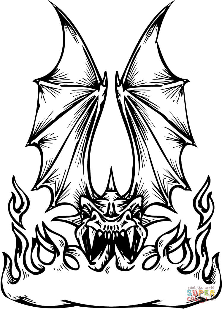 Fire Breathing Dragon Coloring Pages
