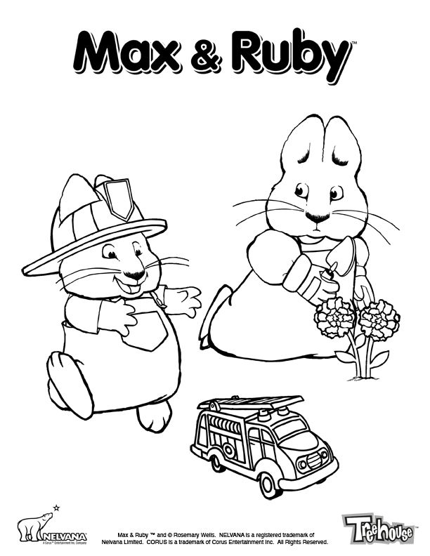 Nick Jr Coloring Pages Pdf : Max ruby colour playtime treehouse coloring home