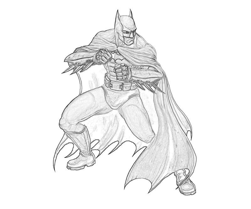 10 Pics Of Batman Arkham Origins Coloring Pages