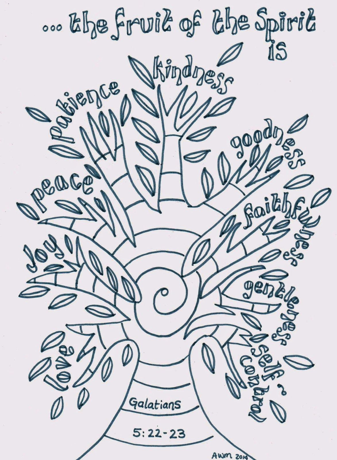 Best Photos of Fruit Of The Spirit Gentleness Coloring Page ...
