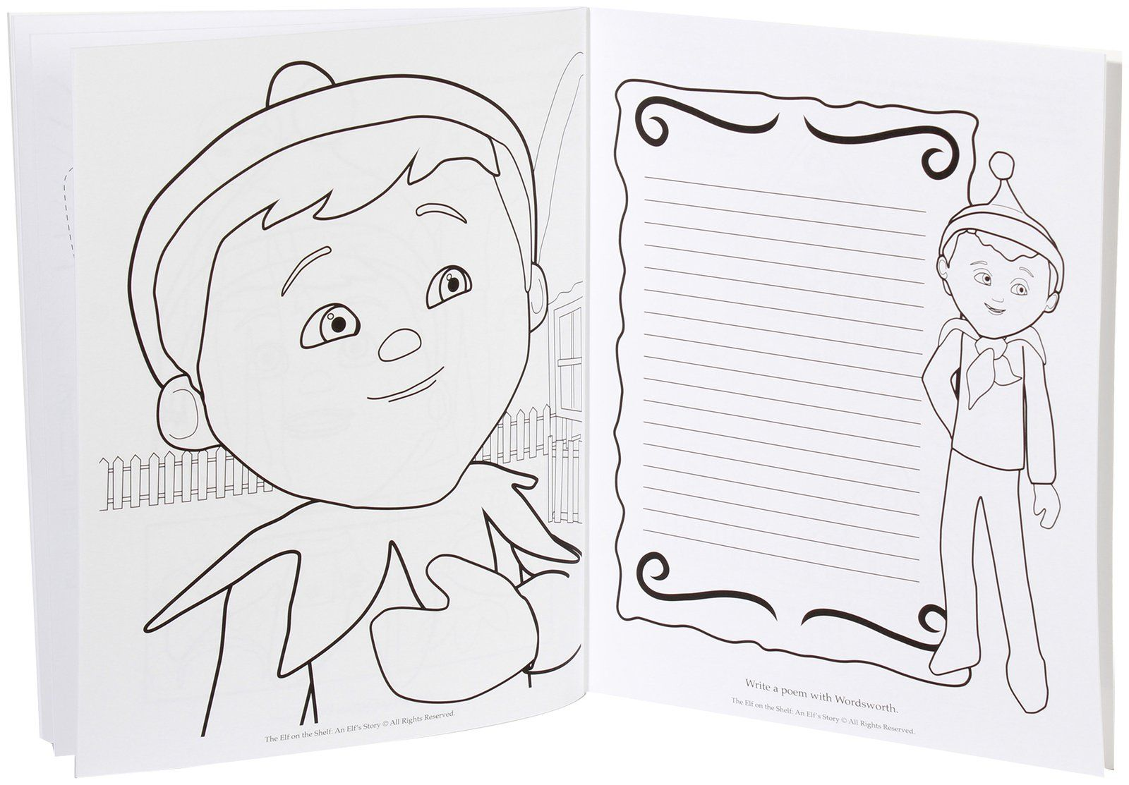 Elf On A Shelf Coloring Pages Coloring Home