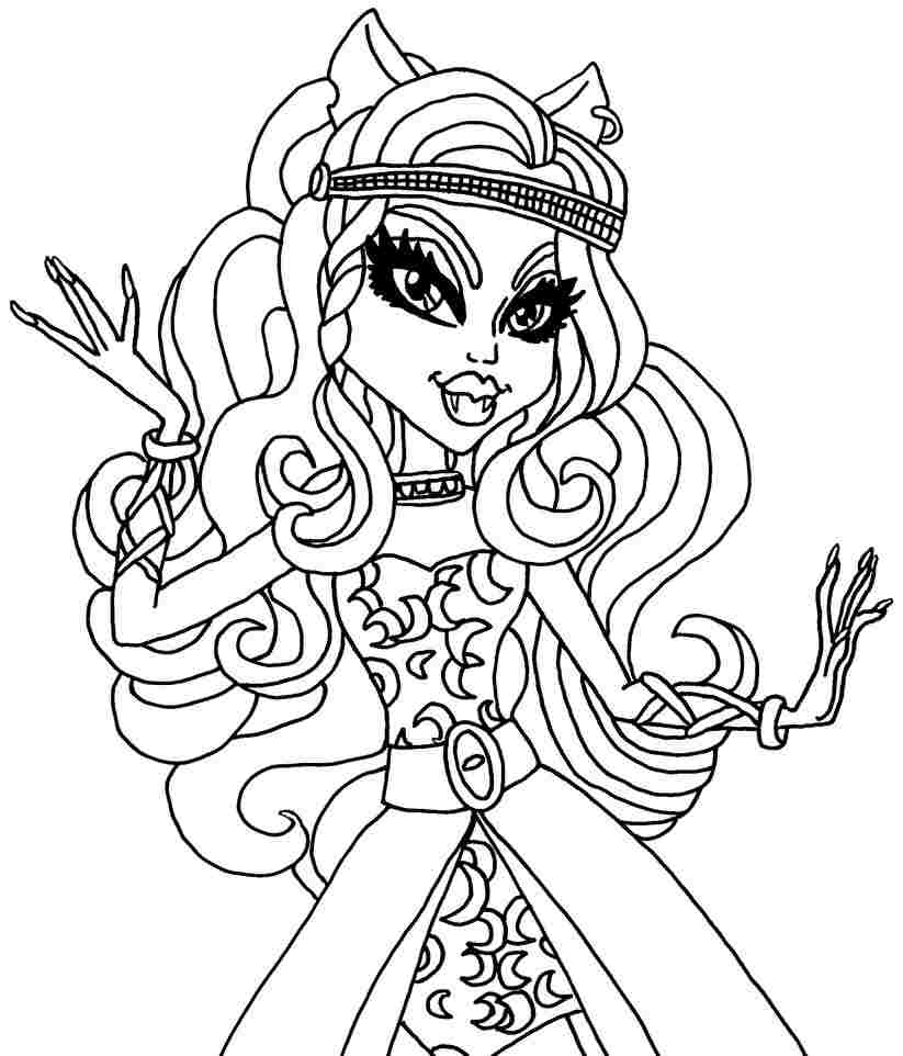easy monster high coloring pages - photo#25