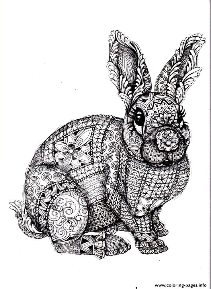 Print adults difficult animals Coloring pages