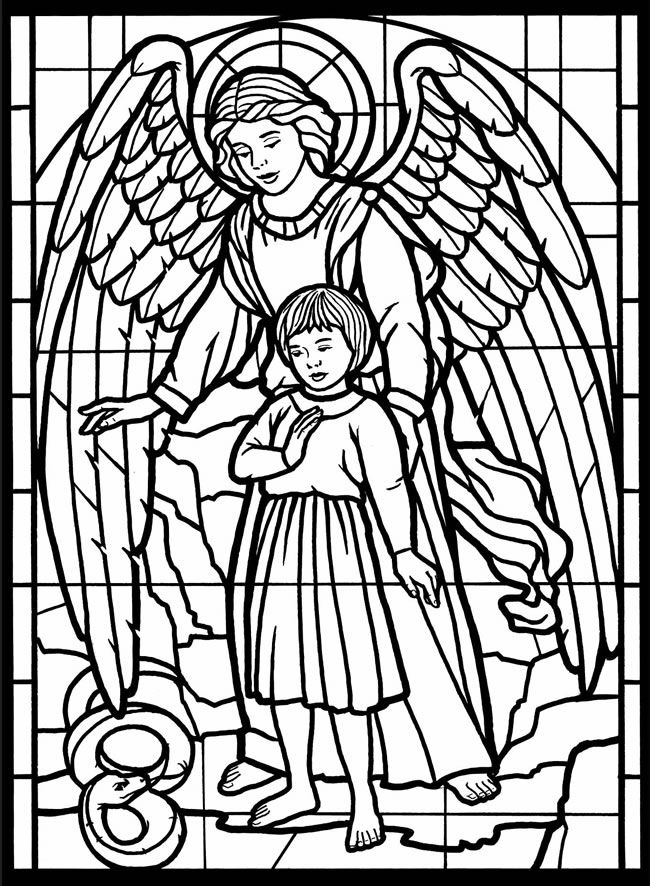 religious stained glass coloring pages - photo#2