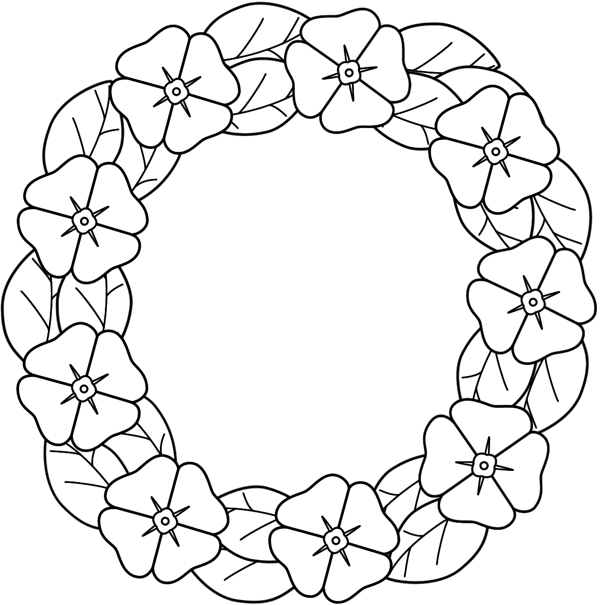 Coloring Pages Wreaths - Coloring Home