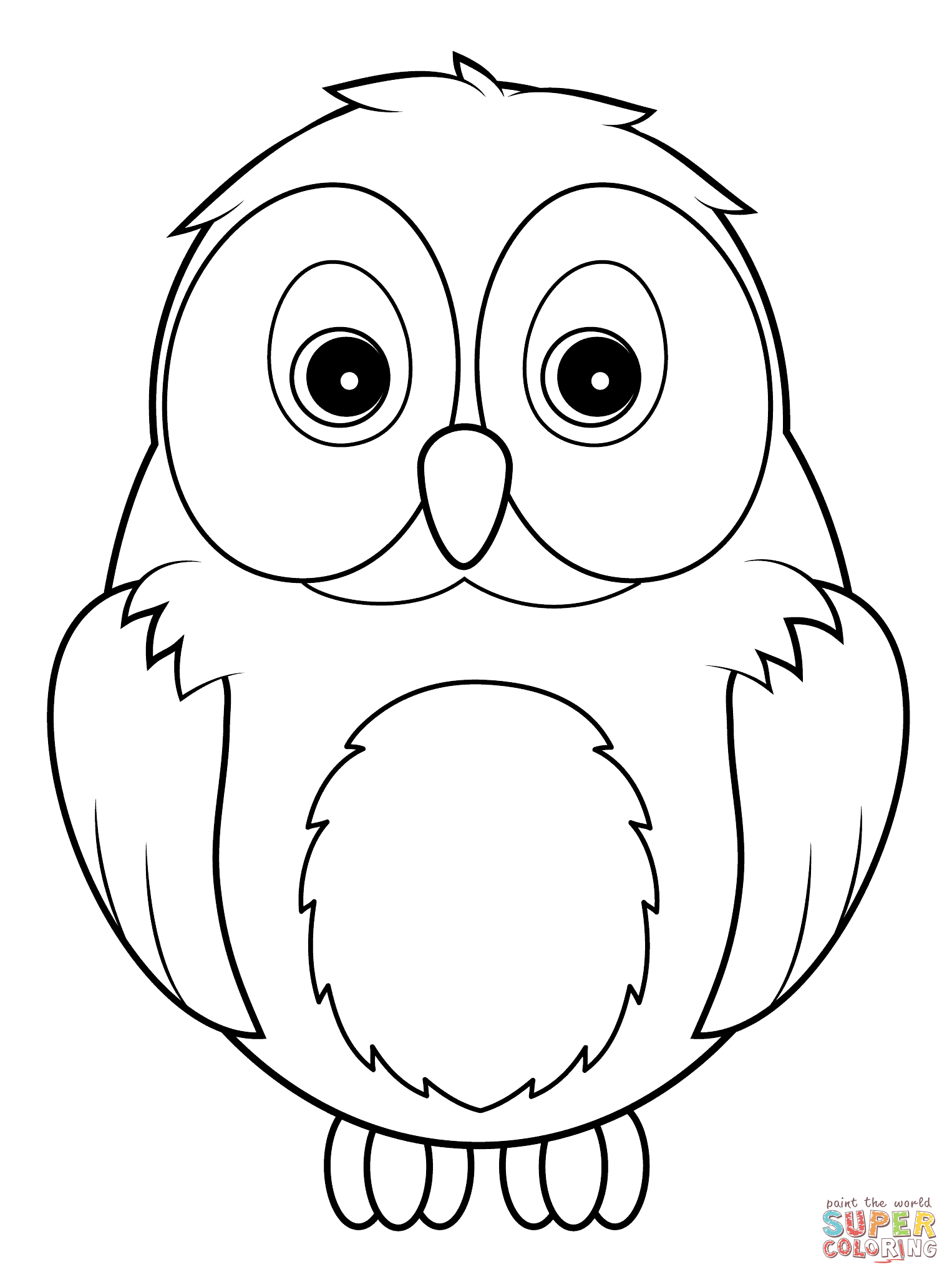 baby owl coloring page - cute baby owl coloring pages coloring home