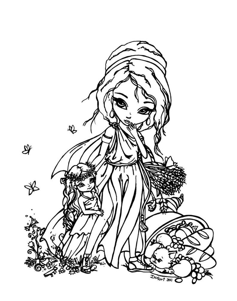 persephone coloring pages - photo #16
