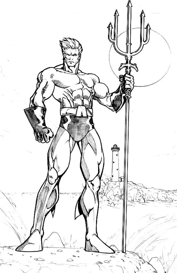 Coloring Pages Of Aquaman Coloring Home