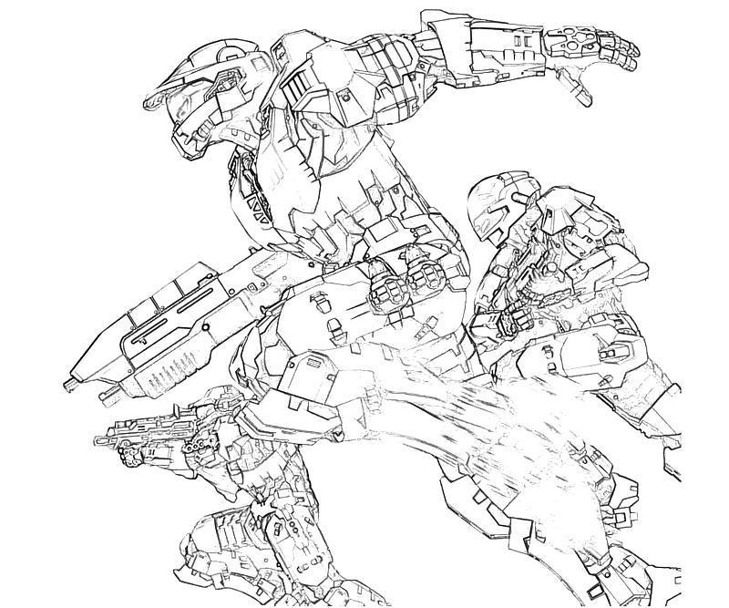 Halo Coloring Pages Pdf : Free printable halo coloring pages for kids home