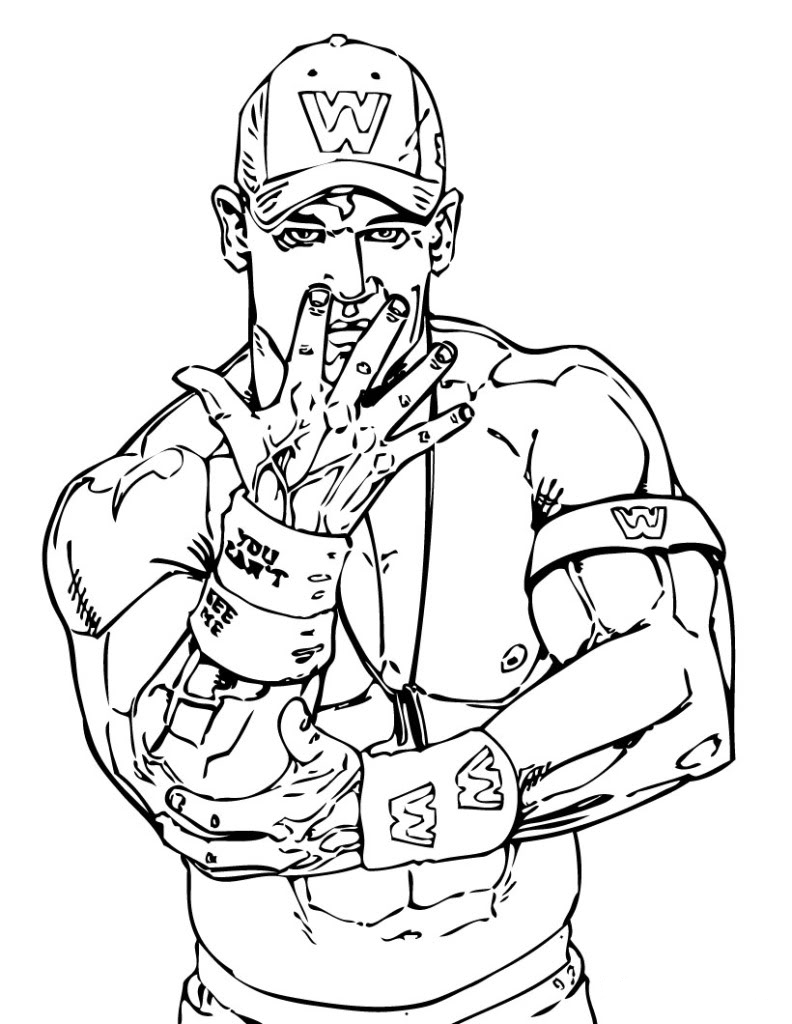 wrestlers coloring pages - photo#3