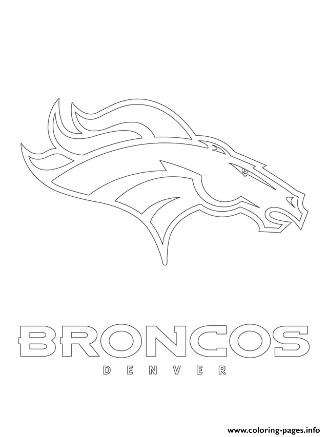 Print denver broncos logo football sport Coloring pages Free Printable