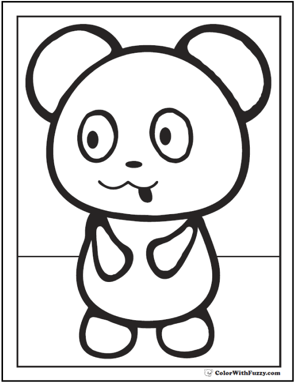 √ Cute Panda Coloring Sheets | Cute Cartoon Panda Coloring Pages ... | 762x590