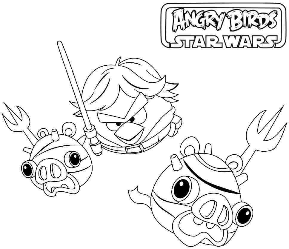 Angry bird star wars coloring pages darth vader