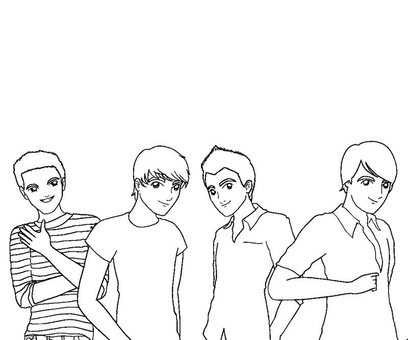 Big Time Rush Coloring Pages For Kids Page 1 Coloring Home Big Time Coloring Pages