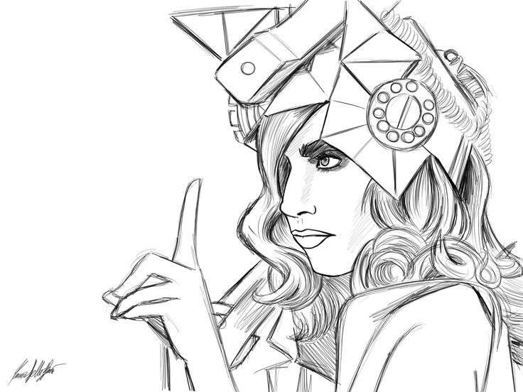 Pretty ladies, Lady gaga and Coloring pages