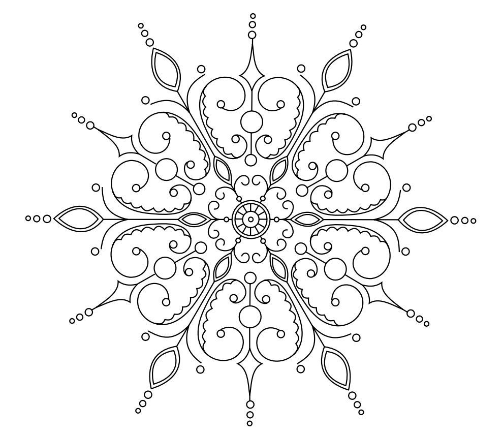 Snowflake AZ Coloring Pages