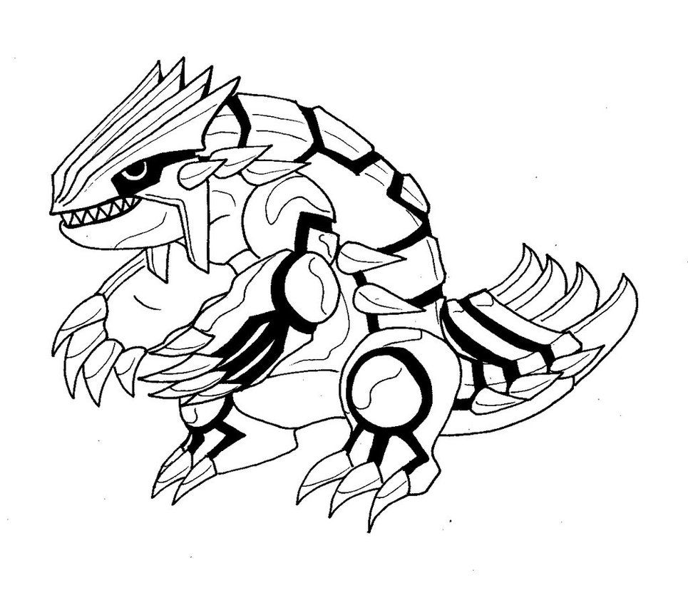 Groudon Coloring Pages on primal x at