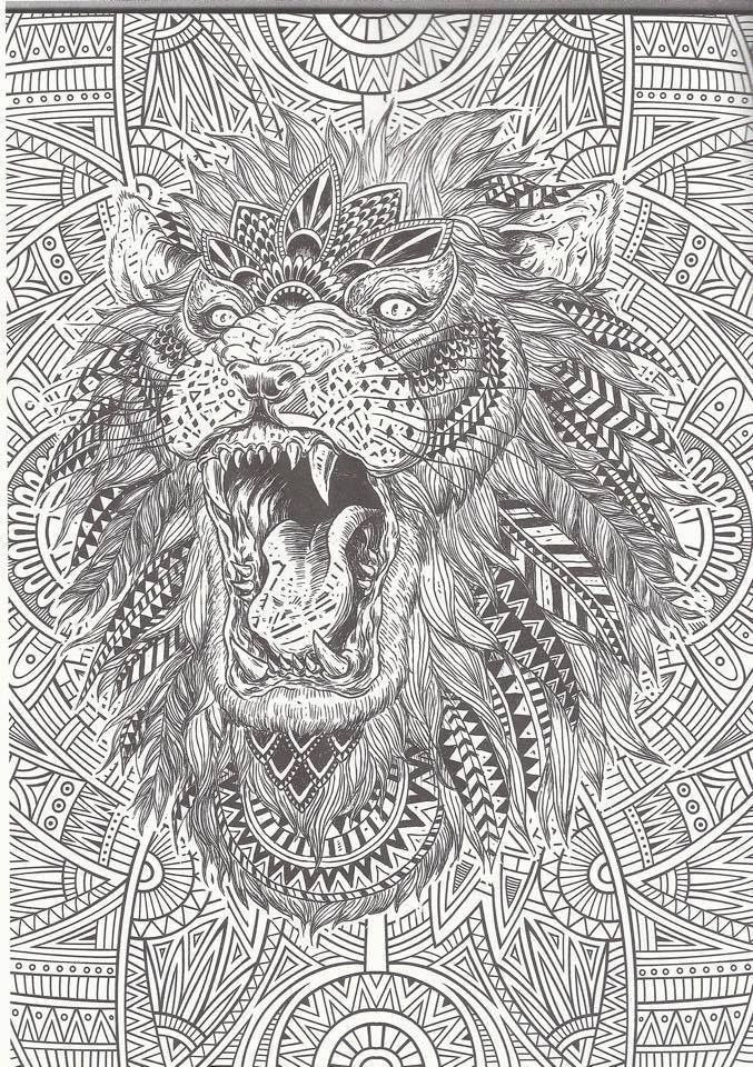 Intricate Cat Coloring Pages : Intricate coloring pages for adults home