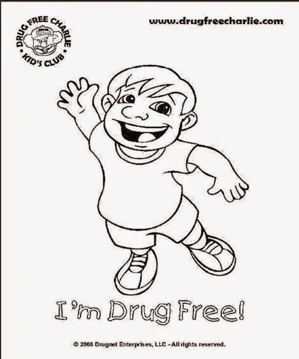 Free red ribbon week coloring pages coloring home for Red ribbon week drug free coloring pages